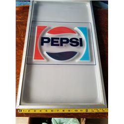 Pepsi Light Up Sign-from machine