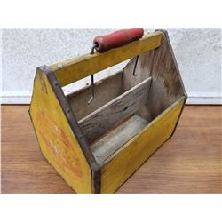 Wooden Coca Cola 6 pack carrier