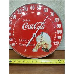 1980s Coca Cola Thermometer with Sprite Boy-Working