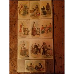 10-1890's Singer Sewing Machine Collector Cards