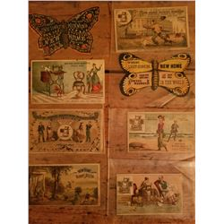 8-1890's New Home Sewing Machine Advertising Cards