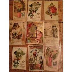 9-1890's New Home Sewing  Machine Advertising Cards