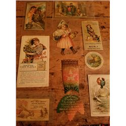 10-1890's Assorted Advertising Pieces