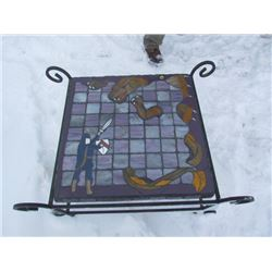Stain Glass and Rod Iron Coffee Table