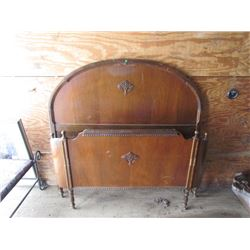 54 Wooden Headboard and Curved Foot Board and Rails