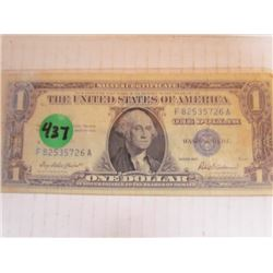 USA 1 Dollar Silver Certificate Series 1957