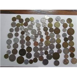 Over 90 World Coins Lot