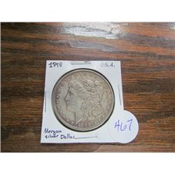 USA Morgan Silver Dollar 1898
