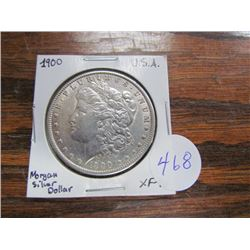 USA Morgan Silver Dollar 1900