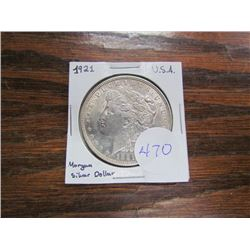 USA Morgan Silver Dollar 1921