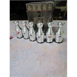 Legends of Hockey VHS 1893-1996 Set TSN with 6 Stanley Cup Champion Trophies