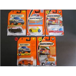 5 Matchbox-Alfa Romeo,Police 28,Fire Hovercraft,Utility Truck,Troop Shuttle