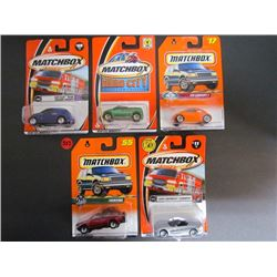 5 Matchbox-Chrysler Panel,Hero City74,VW Concept,Frontera,2000 Chev Corvette