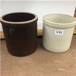 2-1 Gallon Crocks-no cracks