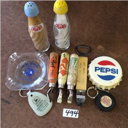 Lot Of Advertising Openers,Ashtray,S+P,Etc