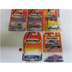 5 Hotwheels-Anglia Panel Truck,Chevy Nomad,152 Chev Truck,Superfast Mustang Mach III,Fat Fendered