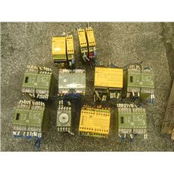 Lot of Pilz Safety Relays