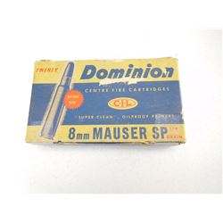 DOMINION 8MM MAUSER SP AMMO