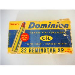 ASSORTED .32 REMINGTON AMMO