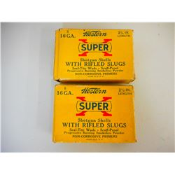 "WESTERN SUPER X 16 GA 2 3/4"" SLUGS"
