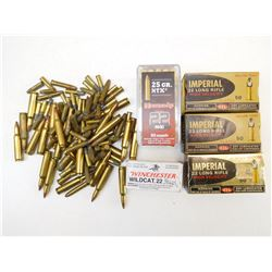 ASSORTED 22 AND 222 REM AMMO