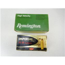 ASSORTED 32-20 WINCHESTER AMMO