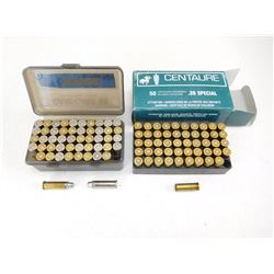 ASSORTED 38 SPL AMMO & BRASS