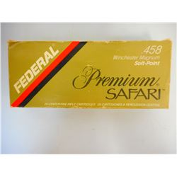 FEDERAL .458 WIN MAGNUM PREMIUM SAFARI AMMO
