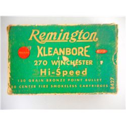 REMINGTON KLEANBORE 270 WIN AMMO