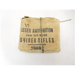 VI BOXER AMMUNITION FOR .577 SNIDER RIFLES