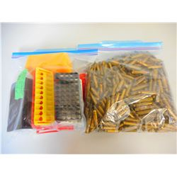 ASSORTED .223 BRASS & AMMO TRAYS
