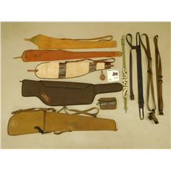 ASSORTED RIFLE CASES & SLINGS