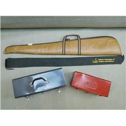 ASSORTED TOOL BOXES & RIFLE BAGS