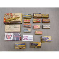 ASSORTED AMMO BOXES