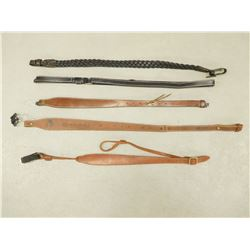 ASSORTED LEATHER GUN SLINGS