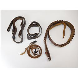 LEATHER AMMO BELT & SLINGS