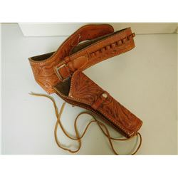 LEATHER AMMO BELT & HOLSTER
