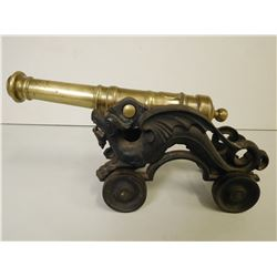 CANNON ON ROLLING CARRIAGE