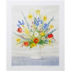 Mary Faulconer, Spring Bouquet, Lithograph