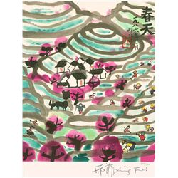 Xing Fei, Spring, Lithograph on Arches Paper