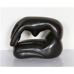 Lisa Fonssagrives-Penn, Curled Nude, Bronze Sculpture in two parts