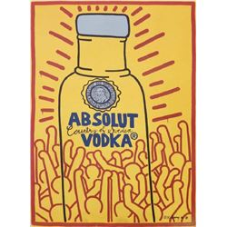Keith Haring, Absolut Vodka, Lithograph Poster