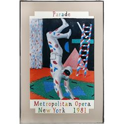 David Hockney, Parade, Metropolitan Opera, Poster