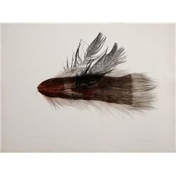 Joseph Kurhajec, Wounded Night Flight, Etching and Mixed Media on Paper