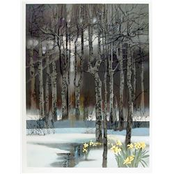 Robert Peak, Early Spring Forest (Chris Evert-Lloyd) from Spirit of Sports, Lithograph
