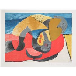 Pablo Picasso, Femme Couchee, 25-9, Lithograph on Arches Paper