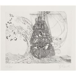 Hans Georg Rauch, The Galleons Suite - Le Petit Vague, Etching with Aquatint