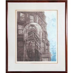 Gatja Helgart Rothe, Landmark, Aquatint Etching