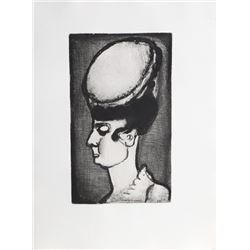 Georges Rouault, Mademoiselle Irma from The Reincarnations du Pere Ubu, Etching with Aquatint