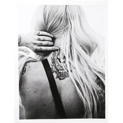 Warwick Saint, Neck Tattoo, Photograph on Glossy Paper